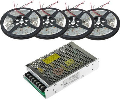 SÚPRAVA 20M 1200 LED Pásky 2835 BIELA Neutrálna