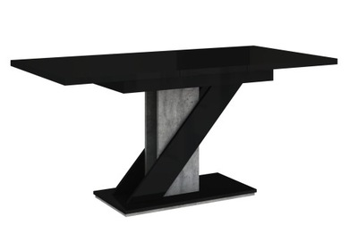 стол раскладной 120-160 CzarnyPołysk бетон +