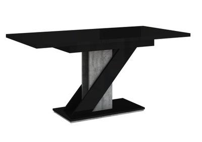 стол ?????????? 120-160 CzarnyPołysk бетон +
