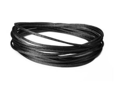 S01 ~ 1мм шнурок атласный клеящее вещество 5м Черный