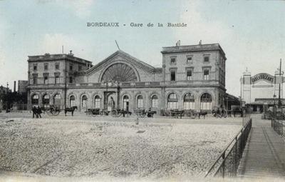 БОРДО - GARE DE LA BASTIDE. 191-?