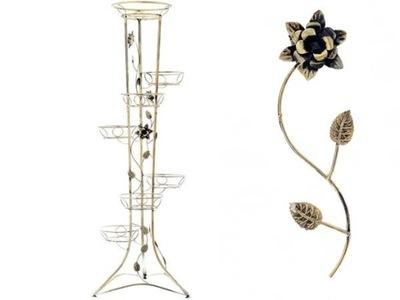 Stojan na kvety KWIETNIK OZDOBNY X7 KWIATÓW STOJAK DONICA 150CM