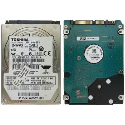 Dysk Sata Toshiba Mk1646gsx 160gb 5400rpm 2 5 5254537073 Oficjalne Archiwum Allegro