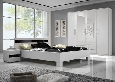 шкаф кровать журнальный столик мебель ??? Спальня SANTI Белый