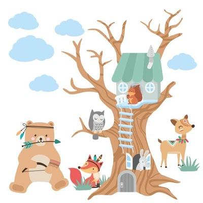 nálepku obtlačky pre deti stenu strom 200
