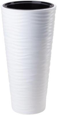 горшок SAHARA SLIM 3D С ВКЛАДОМ H56 FI30 белая 3D
