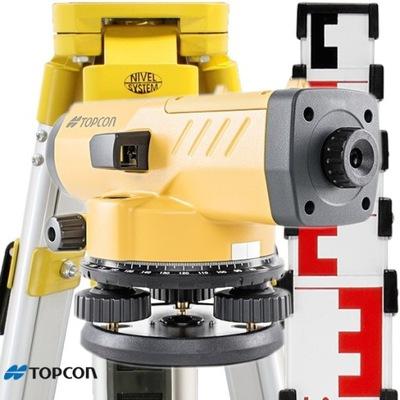Niwelator optyczny TOPCON AT-B4A Statyw Łata 5m