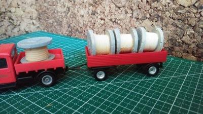 4szt Szpule kable skład-ładunek na wagon Eaglemoss