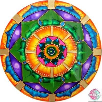 Mandala Green Lotus liečiť sami vitráže