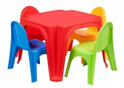 стол ДЛЯ ДЕТЕЙ пластиковый комплект 4 стулья