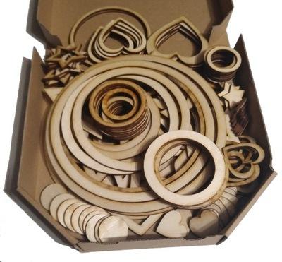 Колеса сердца ЗВЕЗДЫ Кольца 191 штук . Ноль ,19 gr/штук .