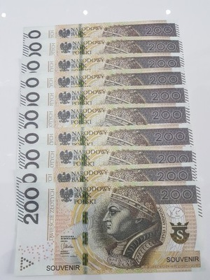 200zł banknoty do zabawy i nauki plik 10szt m.