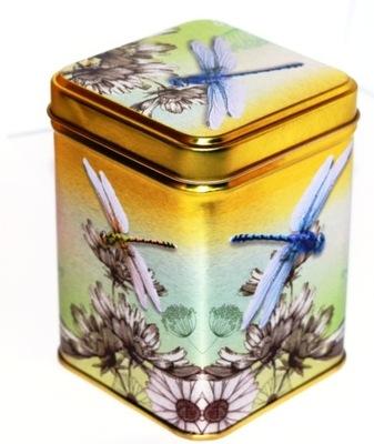 Золота банка 100г СТРЕКОЗА Красивая украшение На Чай