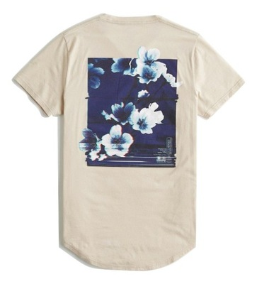 t-shirt Abercrombie Hollister koszulka XL Kwiaty
