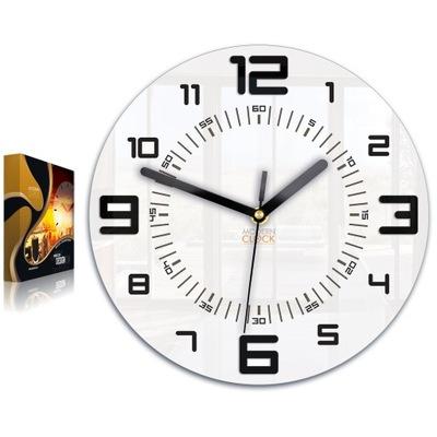 часы АРМАНДО Черный - 3D 28 см современный - ТИХИЙ