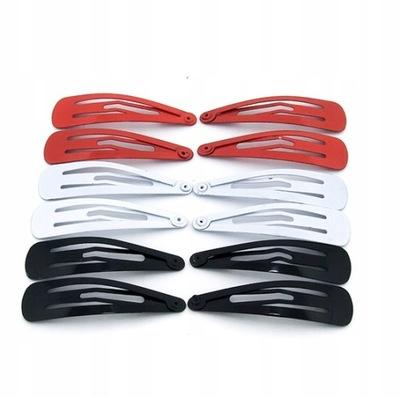 Spinki pyki Czerwone-Białe-Czarne 12 sztuk