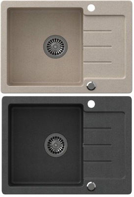 Umývadlo žula 60x44 SIFÓN / čierna, nie šedá