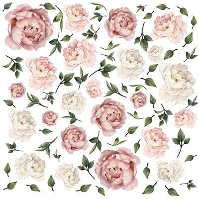 Samolepky na stenu pivónia, kvety 100x130 cm