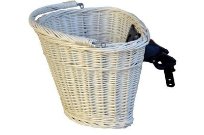 prútený Košík na BICYKEL klipy Koleso Kôš BIELY