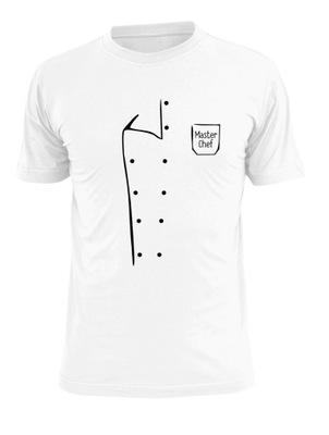 T shirt z nadrukiem bluzy kucharskiej Master Chef na prezent