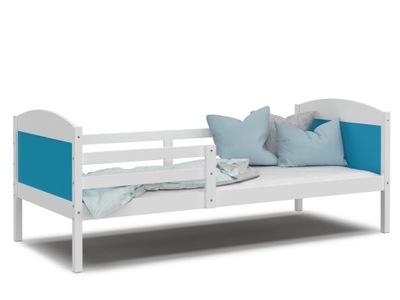 кровать МАТФЕЙ P белое синее без ящик 200x90