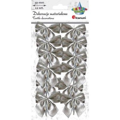 БАНТИКИ декоративные серебряные металлизированные 12sz Елка