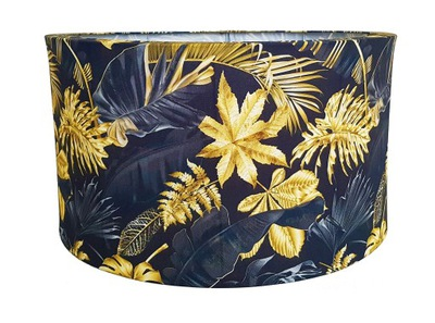 Абажур абажур золотые листья Ролик  Черный 45 см