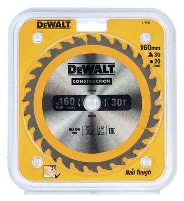 DT1932-QZ DeWalt диски ??? бензопил ручных 160x20