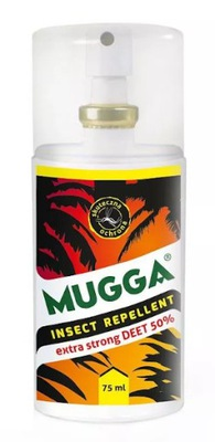MUGGA STRONG spray 75 ml KOMARY kleszcze DEET 50%
