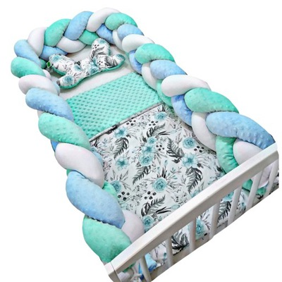 Протектор ??? кроватки плетеные косички фитиль 300см