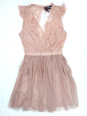 826ab0c1 Sukienka rozkloszowana szyfon tiul KOLORY wesele