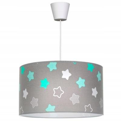 SUFITOWA LAMPA WISZĄCA ŻYRANDOL ABAŻUR ZWIS LED