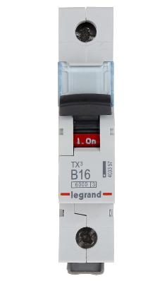 LEGRAND TX3 WYŁĄCZNIK NADPRĄDOWY 1P B16A S301