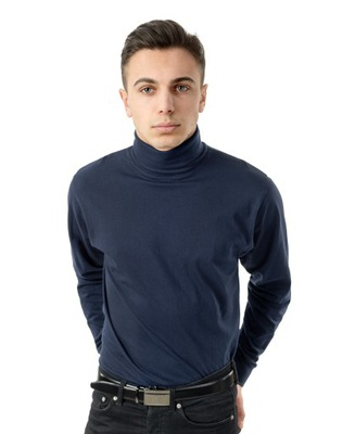 Elegancki Golf Męski cienki sweter AREK XL granat