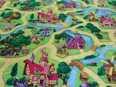 CANDY TOWN Wykładzina Dywanowa Dla Dzieci szer 3 m