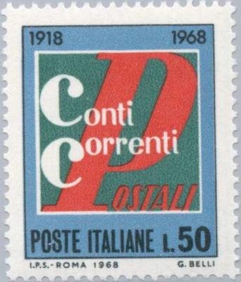 Włochy 1968 Znaczek Mi 1289 ** bank czeki