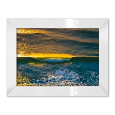 Фото-картина Море в цвете белая Рама