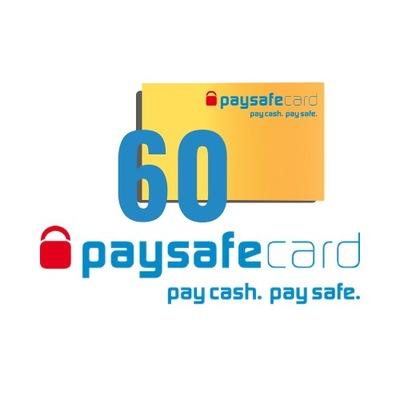 PaySafeCard 60 zł ( 30 + 30 )