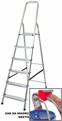REBRÍK HLINÍKOVÝ 6 stupňov na schody + POŠTOVNÉ
