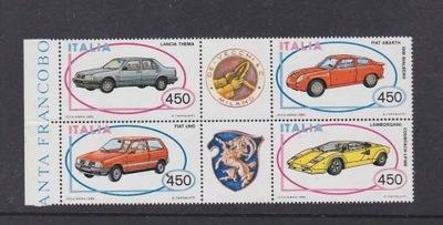 Италия 1985 Марки Мне 1912-5 ** автомобили