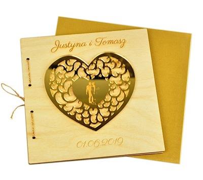 подарок свадьба лист деревянная открывается + Аксессуары