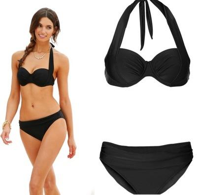 d536f3ad840bb2 Strój kąpielowy bikini 40-42 paski dwuczęściowy - 7394065407 ...