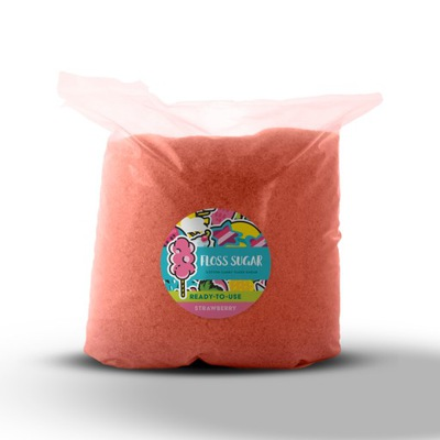 Цветной Сахар ??? сахарной Ваты КЛУБНИКА 5КГ
