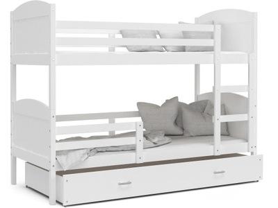 Poschodová posteľ 160x80 biela MATÚŠ biela