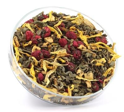 чай зеленый ПОРОХОВАЯ МАЛИНА + ЯБЛОКО 50г
