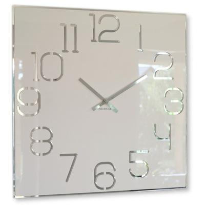 Большой современный часы instagram DIGIT 50см Белый