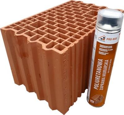 Кирпич пустотелый объемный PRO-MAX 25 / porotherm dryfix