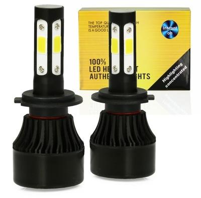 ЛАМПОЧКИ LED (СВЕТОДИОД ) H7 S4 360° COB 80W 16000LM 4-STRONNE