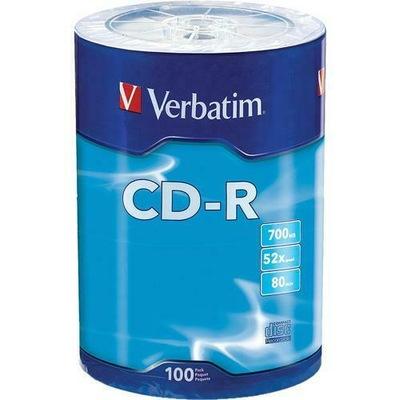 PŁYTY CD-R Verbatim 700MB x52 100 szt
