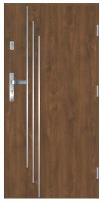 двери входные пустынного 55 мм ЛА-7 Орех 80 P